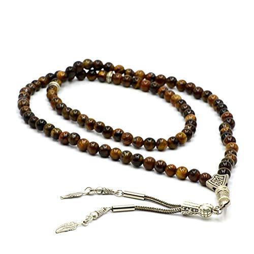 one Prayer Beads (6 mm, 99 Beads) Tesbih-Tasbih-Tasbeeh-Misbaha-Masbaha-Subha-Sebha-Sibha-Rosary-Worry Beads ()