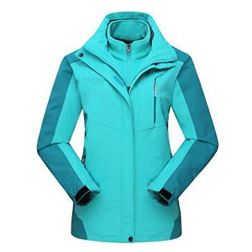 Woman Giacche Tre Winter Pezzi Peluche Felpa Caldo Alpinismo Due Blue Una In 7w6wZxqa