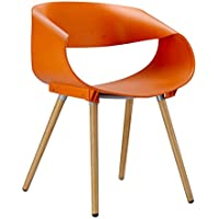Porthos Home Patricia Eames-Style Dining Chair (Set of 2), Orange