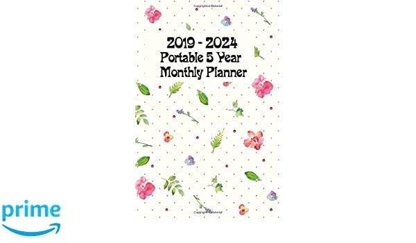 Amazon.com: 2019 - 2024 Portable 5-Year Monthly Planner ...