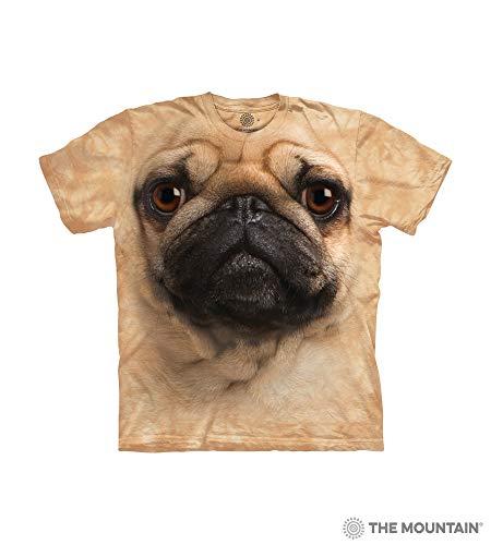 (The Mountain Pug Face Child T-Shirt, Tan, Large)