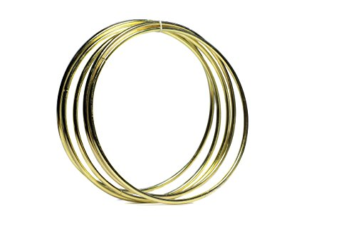 (Bistore - Set of 5pcs Gold Dream Catcher Metal Hoops, (Dream Catcher Metal Rings) (12-inch gold))