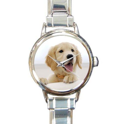 Valentine's Day Wife/Girlfriends Gifts Cute labrador retriever Puppy Dog Women's Round Italian Charm Watch Dogs Womans Italian Charms
