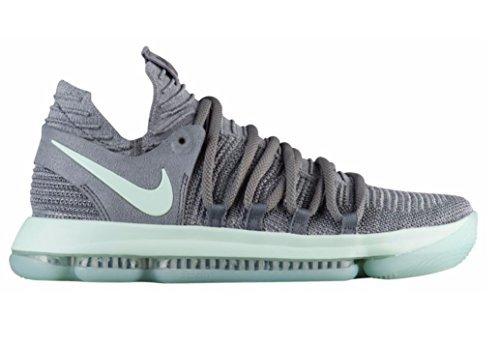 NIKE Mens Zoom KD 10 X Mens Basketball Sneakers New, Cool Grey Igloo White 897815-002 (10)