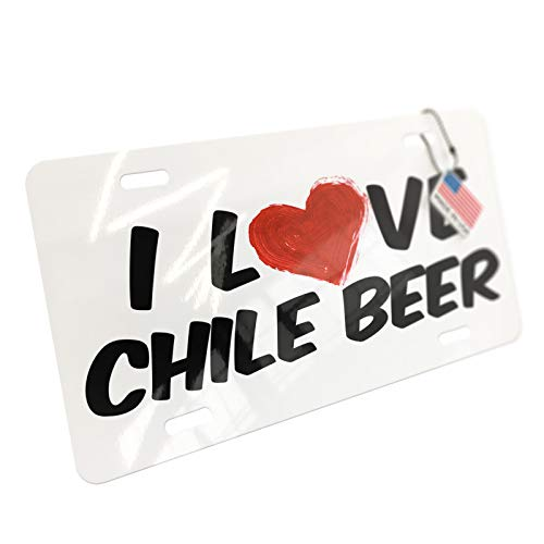 NEONBLOND I Love Chile Beer Aluminum License Plate ()