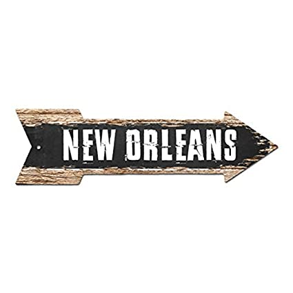 NEW ORLEANS Arrow Street Tin Chic Sign Name Sign Home Man Cave Decor Gift  Bar Cafe