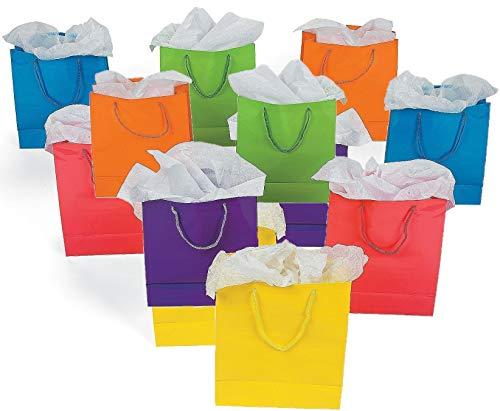 Fun Express Medium Neon Gift Bags, 4-Dozen, 9-Inch Tall