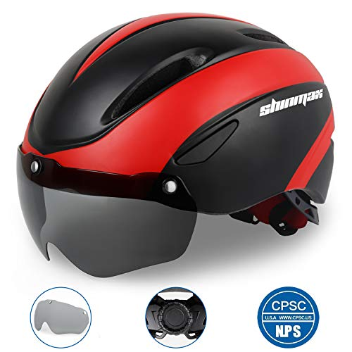 Shinmax Basecamp Bike Helmet CPSC Certified W Detachable Magnetic Goggles Visor