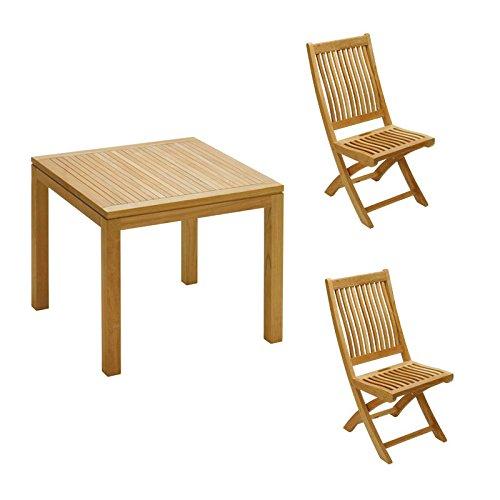 イスタナ テーブル&フォールディングチェア3点セット B07FGXMTG6