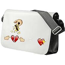 "Shoulder Bag ""Two half hearts equal a whole heart"" Schoolbag- Sidebag- Handbag- Sports Bag- Backpack- Emoji- Smiley Face- Christmas Gift"