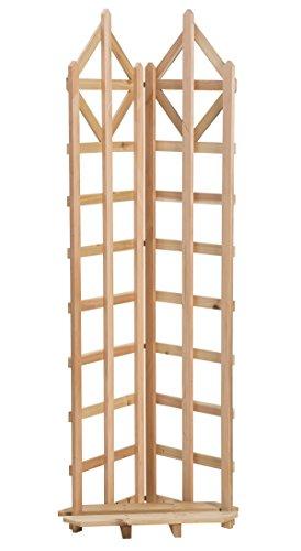 (Arboria Deco Garden Trellis Cedar Wood 70 Inch Height Freestanding with Integrated Base for Pots)