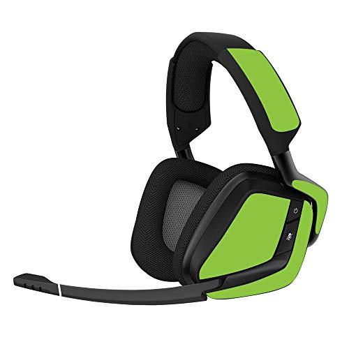 MightySkins Skin Compatible with Corsair Void Pro Gaming Headset - Solid Lime Green   Protective, Durable, and Unique Vinyl Decal wrap Cover   Easy to Apply, Remove   Made in - Lime Green Headset