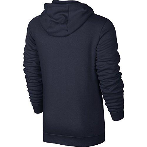 Nike Sportswear Heren Full-zip Hoodie Obsidiaan / Obsidian / Wit