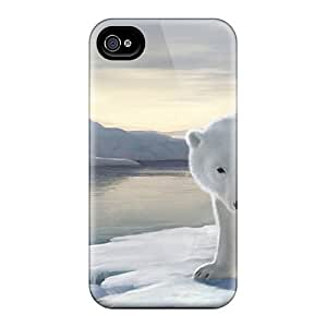 New GXXoTlH104HFiPG Fantasy Polar Bear And The Ice Queen Tpu Cover Case For Iphone 4/4s