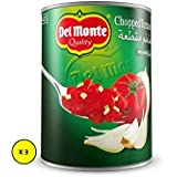 Del Monte Chopped Canned Tomato Mix Onion, 400gms (Pack of 3)