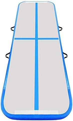 練習体操タンブリング、パルクールホーム床用電動ポンプ付きインフレータブル10センチメートル太いエアトラックタンブリング体操マット、