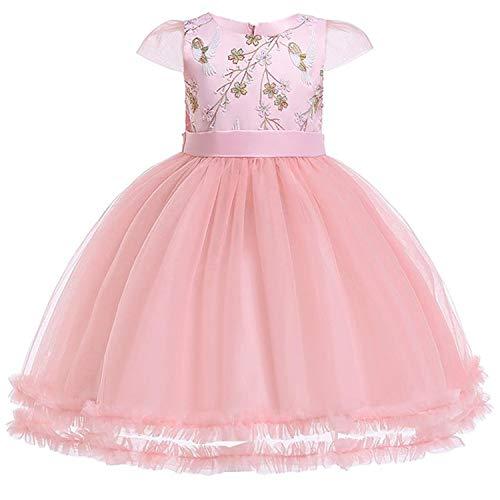 Summer Girls Dress Easter Princess Dress Tutu Party Wedding Dress Costume Kids Dresses,Pink1,7 -