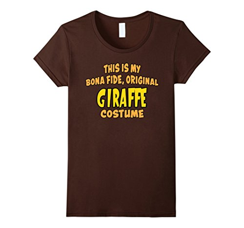 Scary Giraffe Costume (Womens Bona Fide Original Giraffe Costume Funny Halloween Joke T-Sh Small Brown)