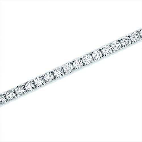 Prix de vente Conseillé 10125-D-e/VS 3.00CT Diamant rond Bracelet de tennis, Or blanc 18K