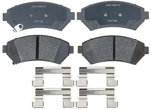 (ACDelco 14D699MH Advantage Semi-Metallic Front Disc Brake Pad Set)