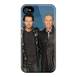 Shock-Absorbing Hard Phone Covers For Iphone 4/4s With Allow Personal Design High Resolution Mr Big Band Skin LauraAdamicska