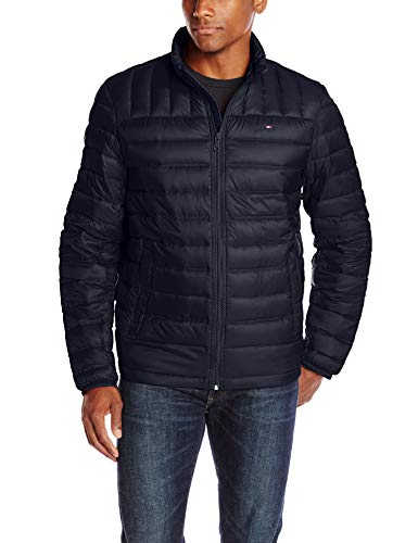 Tommy Hilfiger Men's Packable Down Jacket (Regular and Big & Tall Sizes), Midnight, Medium