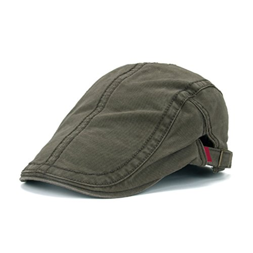 Raylans Chic Men's Denim IVY Cap Golf Driving Summer Sun Beret Hat Cabbie newsboy - Ivy Cap Denim