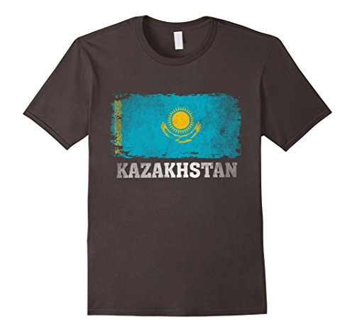 Men's Kazakhstan T Shirt Flag of from Kazakhstan Vintage Tee. Medium (Kazakhstan Flag T-shirt)