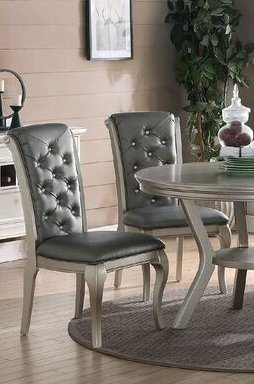 PFCA6-CAP-LC 6 PC Dining room set with bench-Dinette Table with Leaf and 4 Dining Chairs Plus Bench.