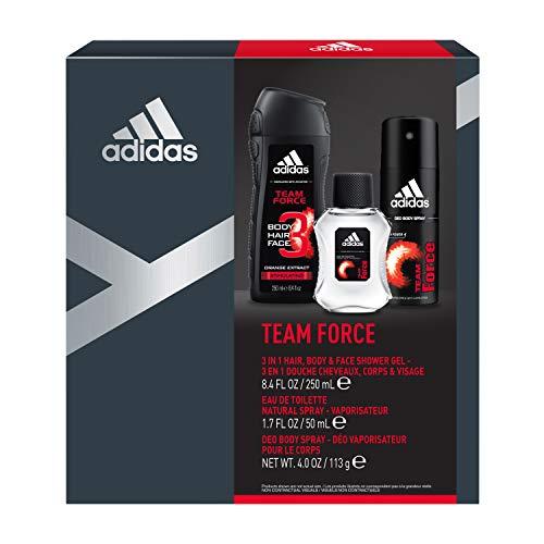 45370026cf21 adidas Team Force Gift Set With Body Wash, Eau De Toilette & Deodorant Body  Spray