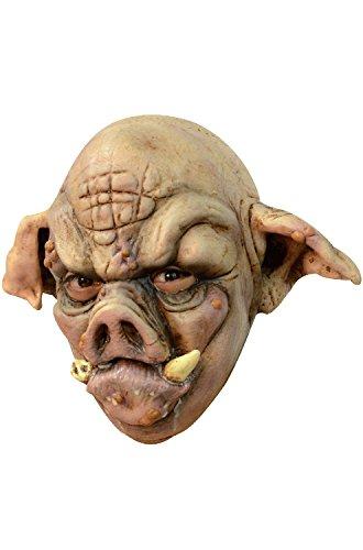 Creepy Pig Mask (Adult Rabid Pig Halloween Mask)