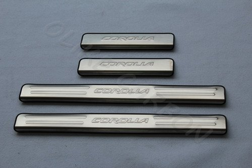 For Toyota Corolla 2014 15 16 2017 Stainless Steel Door Sill Scuff Plate Guard Sills Protector Trim