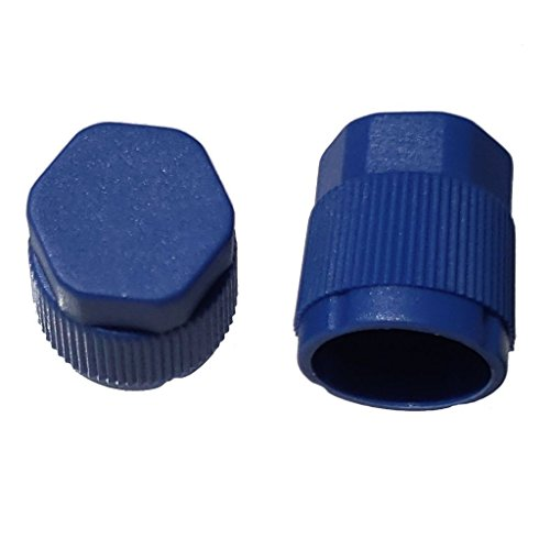 Buy Auto Supply # BAS03034 (25 Count) M9x1.0 Thread Blue Low Side A/C Service Cap Charge Port Valve for Air Conditioning Systems Aftermarket Replacement For MT0061, 59932