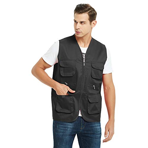 TOPTIE Adult Supermarket Volunteer Activity Vest Multi-Pocket Waistcoat