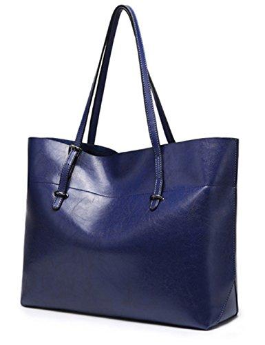Cuir Bleu Faux 7308 Sac Épaule Crossbody Sac Femmes Noir Poignée Menschwear Sac USwxgqn