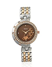 TimeSmith Limited Edition Brown Dial Multicolor Metal Watch for Women TSM-114