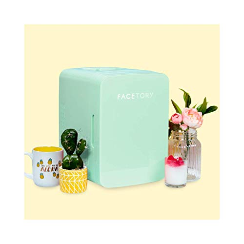 FaceTory Portable Mint Beauty Fridge (10-L / 12 Can) with Heat and Cool Capacity