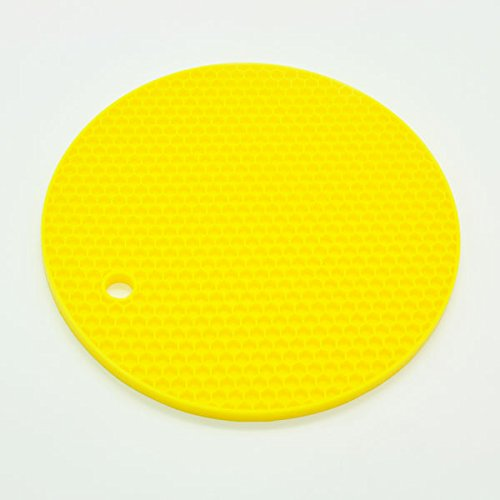 18Cm Round Heat Resistant Silicone Mat Drink Cup Coasters Non-Slip Pot...