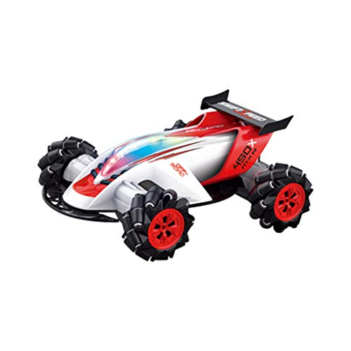 ERLOU Education Toys Baby Boys Girls 1/10 360 Degre Rotation Electric Drift Stunt Vehicle Off-Road Buggy RC 4WD Car (White) (Cat Off Road Dump Trucks For Sale)