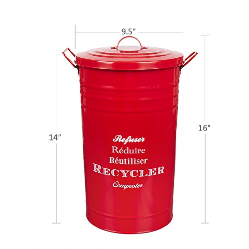 enamel bucket with lid - 2