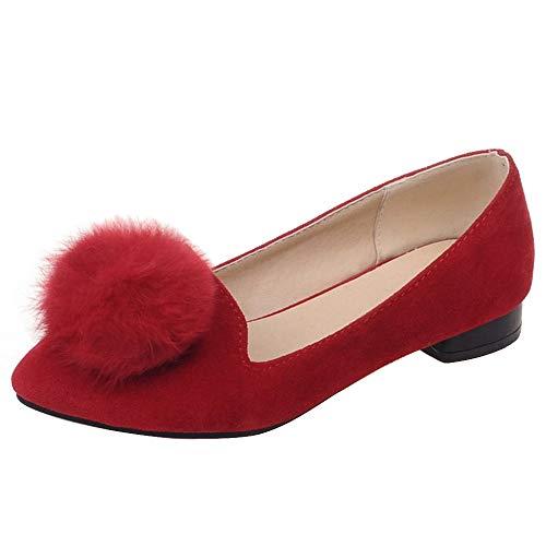 COOLCEPT Pumps Rosso Slip Moda Basse Donna On HHrp1aW