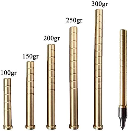 NMCPY 12pcs Archery Arrow Copper Insert Screw Copper Brass Arrow Inserts Arrowheads Connector for 6.2mm Arrow Shaft