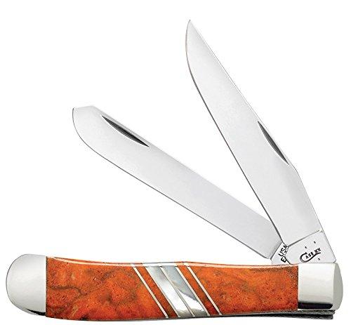 (Case Orange Coral Trapper Pocket Knife)