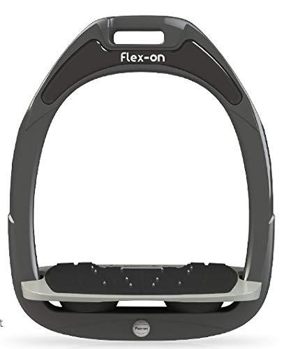 【Amazon.co.jp 限定】フレクソン(Flex-On) 鐙 ガンマセーフオン GAMME SAFE-ON Mixed ultra-grip フレームカラー: ダーク グレー フットベッドカラー: グレー エラストマー: ブラック 06739
