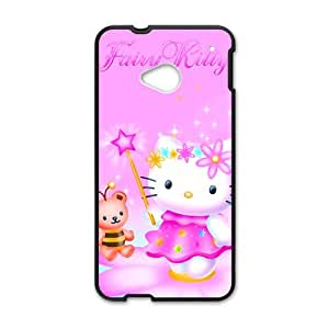 Happy Lovely pink Kitty Cell Phone Case for HTC One M7