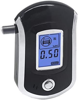 AT-6000 Breathalyzer Spiritus-Detektor digitale LCD-Bildschirm Battery Power Hand Halten Professionelle BAC Tracker mit 5 Mund