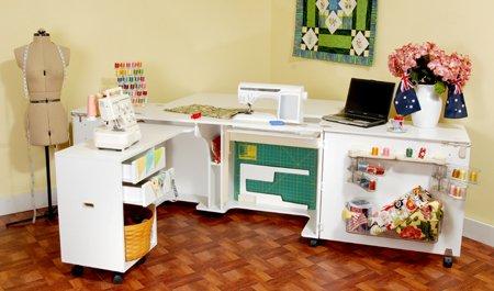 Aussie Sewing Cabinet White Ash - Kangaroo Kabinets K8611