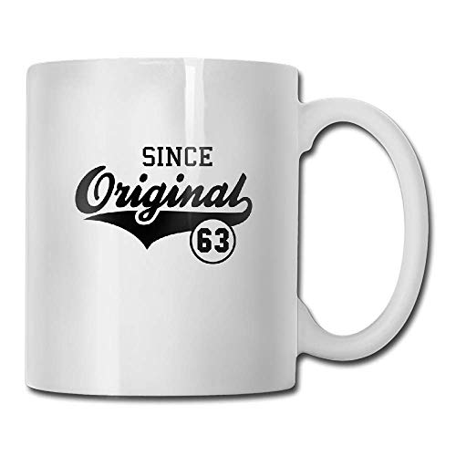 JTRVW Funny Coffee Mug 11 Oz White Ceramic Glossy Mug With Large C-handle,Original Since 1963 Tea Cup Gift for the Caffeine Lover