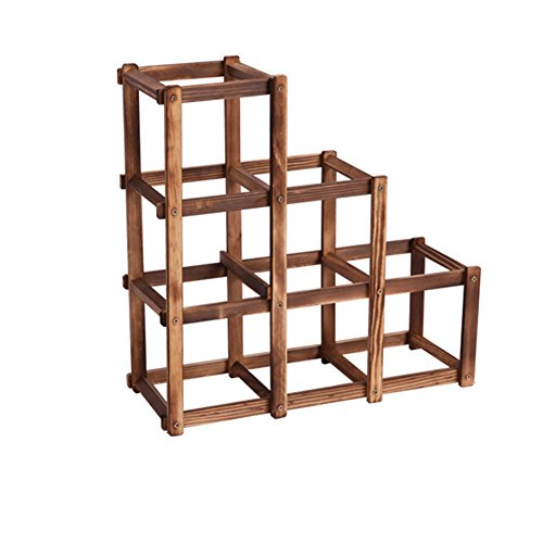 Funnytoday365 6 Folding Wood Wine Rack Alcohol Care Drink Bottle Holders Solid Wood Shelf Special Cabinet European Creative Gift (Bar Cabinet Singapore)