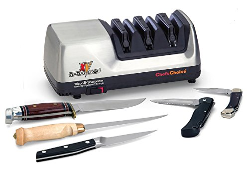The Best 15 Degree Knife Sharpener - Chef'sChoice 15 Trizor XV EdgeSelect Professional Electric Knife Sharpener